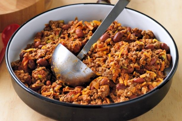 Lower GI - but not in flavour - this dish of lean mince beef and and chilli spices is a one pot wonder.