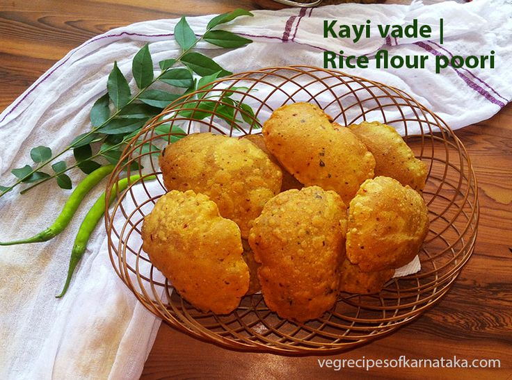 Kayi vade or akki hittu poori are deep fried rice flour pooris. Kayi vade or rice flour poori is prepared using ground coconut, ground spices (masala) and rice flour. Here Kayi vade or akki hittu poori recipe explained with step by step pictures. Kayi vade or akki hittu poori is an unique and tasty poori.