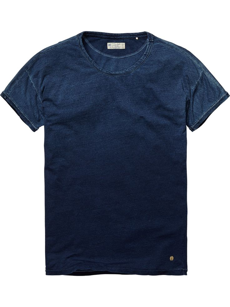 Snow-washed crew neck tee   T-shirt s/s   Men Clothing at Scotch & Soda
