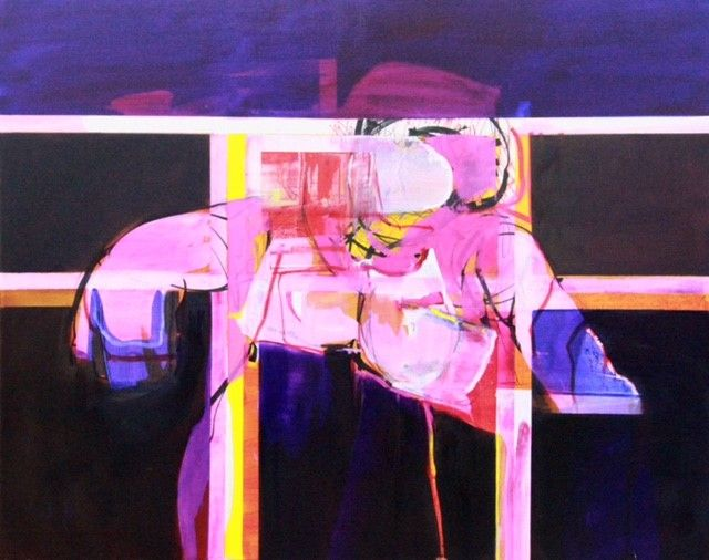 """""""Seated Figure 5"""" 125cm x 155cm For more information please contact REDSEA Gallery on (07) 3162 2230 © John Waller"""