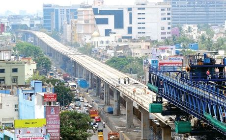 chennai   Metro stations in the air by December - The New Indian Express