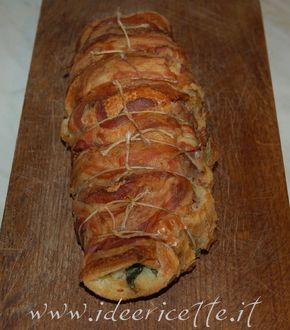 Filetto di maiale in crosta sul tagliere