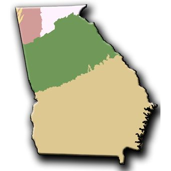 Best Georgia RegionsHabitats Images On Pinterest Georgia - Georgia map with regions
