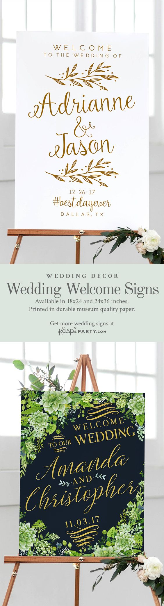 The Best Wedding Welcome Signs! - #wedding #weddings #weddingsign #weddingsigns #weddingwelcomesign #weddingwelcomesigns #weddinginspiration #weddingplanner #weddingplanning #weddingdecor #weddingdecorations