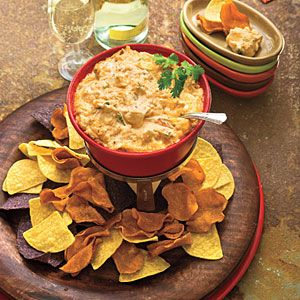 10 Favorite Chips & Dips Appetizers  | Colby-Pepper Jack Cheese Dip | MyRecipes.com