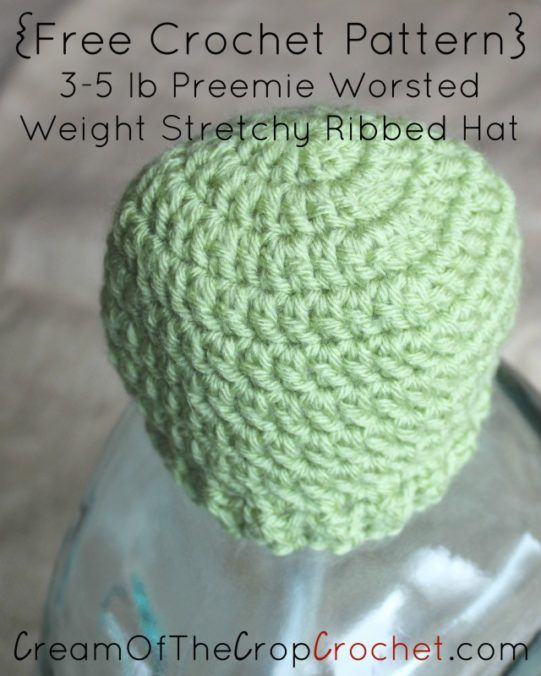 1000+ images about Free Crochet Baby Hat Patterns // Cream ...