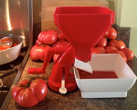 Borrow our Tomato Press Strainer @KitchenLibrary | TheKitchenLibrary.ca