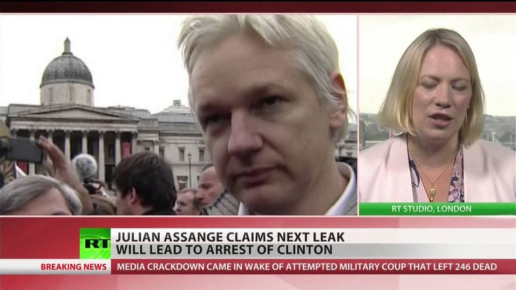 Next leak will lead to arrest of Hillary Clinton – Assange