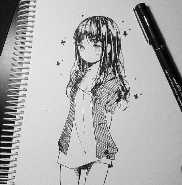 Манга аниме нарисованная