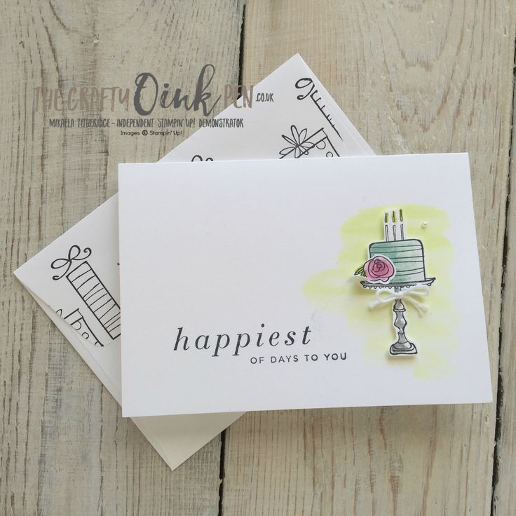 Quick and easy Stamping on the Happiest of Days with Mikaela Titheridge, The Crafty oINK Pen, UK Stampin' Up Demonstrator, Cambridgeshire, UK. Note card holder. Supplies available through my online store 24/7 Watercolour wash Wedding Card