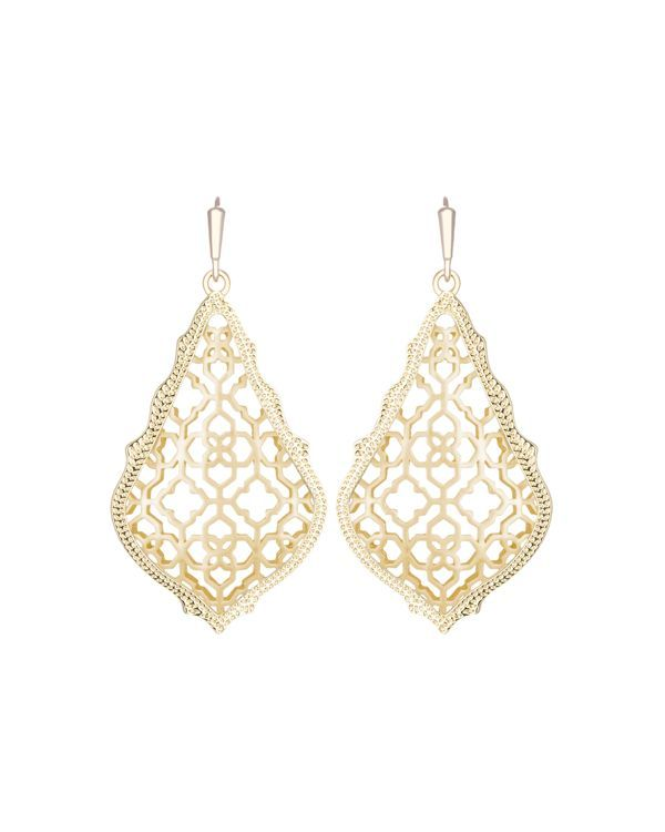 "Kendra Scott's drop earrings are timeless and elegant with beautiful filigree detailing. | Imported | 1.75"" drop  