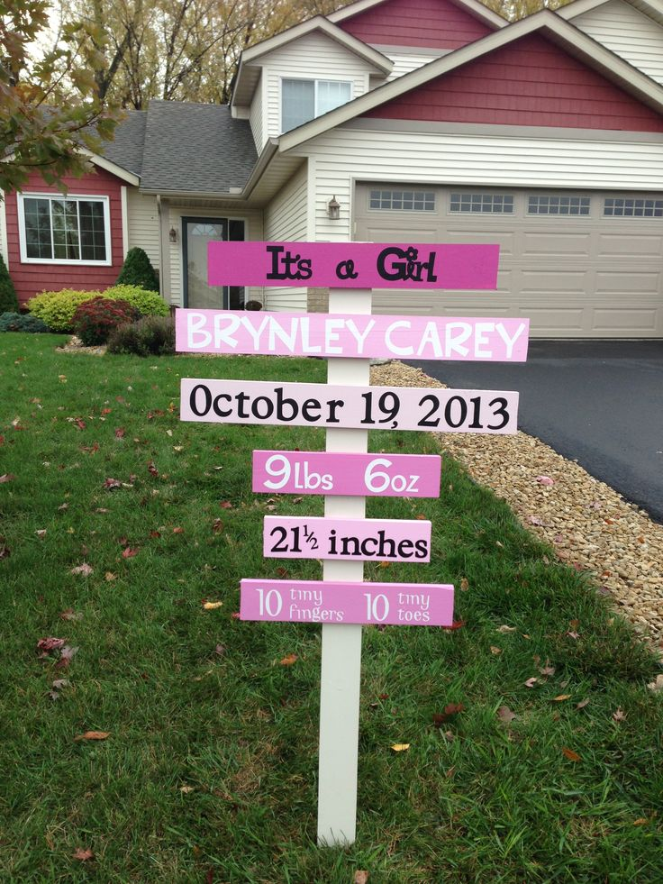 1000 images about yard ideas – Baby Announcement Lawn Signs
