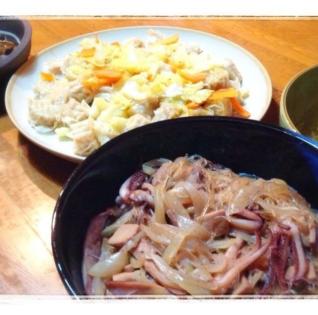 総額800円。 シューマイはチルド商品です。 山椒漬け、大好きです(≧∇≦) - 0件のもぐもぐ - イカ下足高野豆腐、シュウマイ、郷土料理のニシンの山椒漬け、もやしナムル by yumihaha