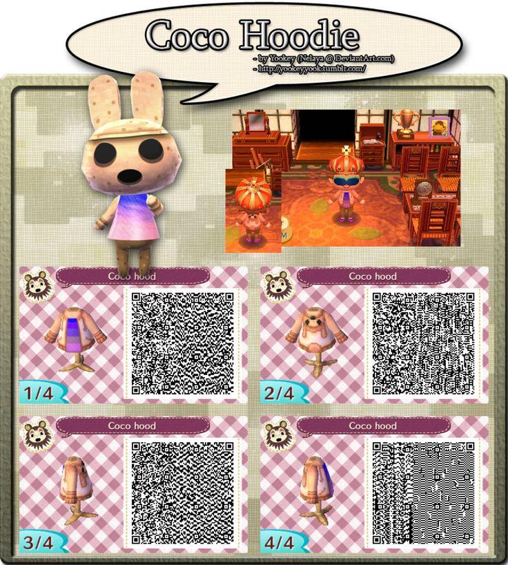 Coco Hoodie Qr Code Animal Crossing Qr Codes Animal Crossing Qr Codes Animals