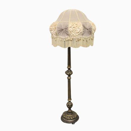 Ideal Antike Vergoldete Stehlampe aus Holz er Jetzt bestellen unter