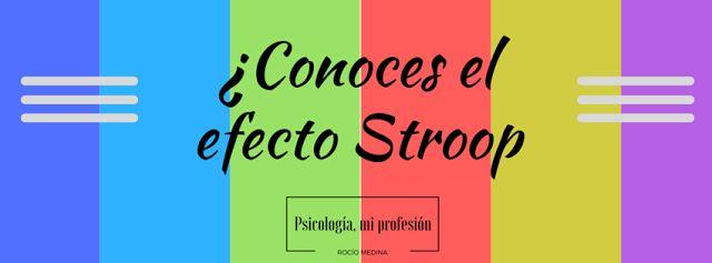 Psicología, efecto stroop