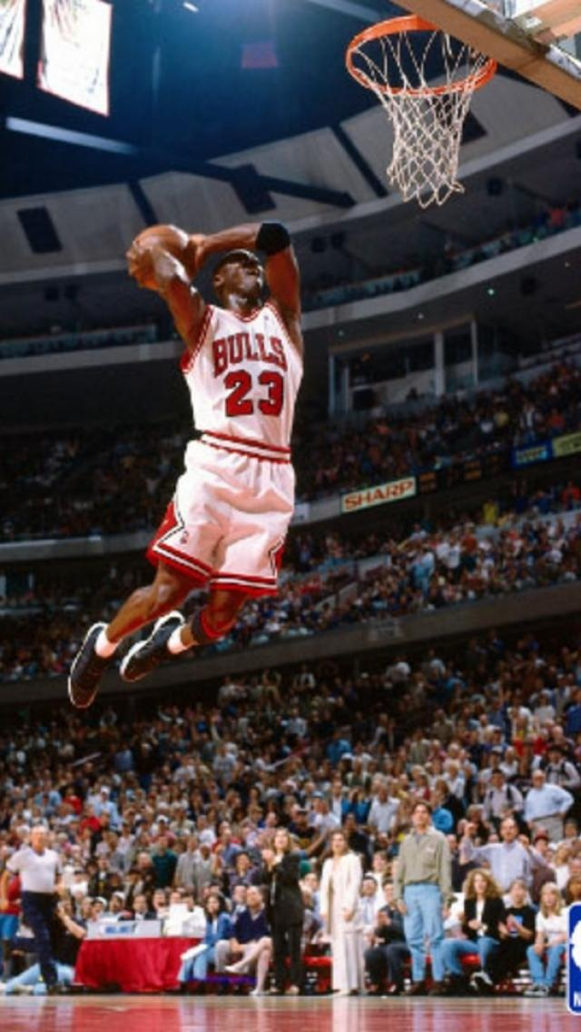 michael jordan flying in with a monster dunk nba basketball players teams and legends. Black Bedroom Furniture Sets. Home Design Ideas