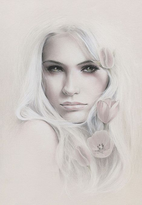 Artwork by bec winnel pencil graphite and pastel