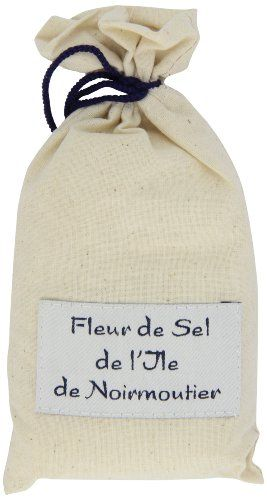 Marky's France (Linen Bag) Natural 'fleur De Sel' Sea Salt From Noirmoutier Island,7-Ounce Bags (Pack of 2)