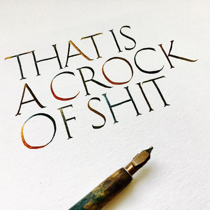 """Post number 80 of my sh*t series: """"That's a crock of shit"""" is how I feel about my Roman Capitals... so much room to improve! 🖋 Last Saturday I kicked off my second calligraphy course of 2017 and I am loving it! 🖋 If you are still thinking about it, I have 1 spot left to attend the whole course. 🖋 #mariamontes #shitseries #learn #calligraphy #melbourne #workshop #calligraphyworkshop #romancapitals #learnbydoing #workshop #calligritype"""
