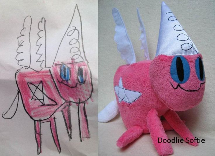 Send a doodle that your child drew to this company and they make a real doll out of it for you!Child Drawing Into Toys, Stuffed Animals, Stuffed Toys, Kids Drawing, Amazing Site, Children, Child Art, Kids Gift, Child Drawing Toys