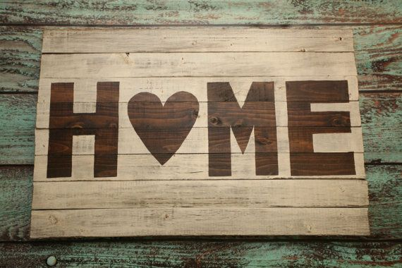 large wood sign distressed HOME by CINDERnSMOKE on Etsy, $50.00