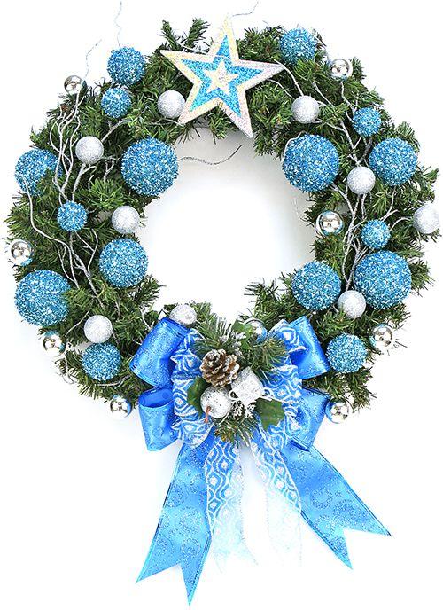Corono Navideña / Azul  / Navidad 2014 / Adorno / Decoración