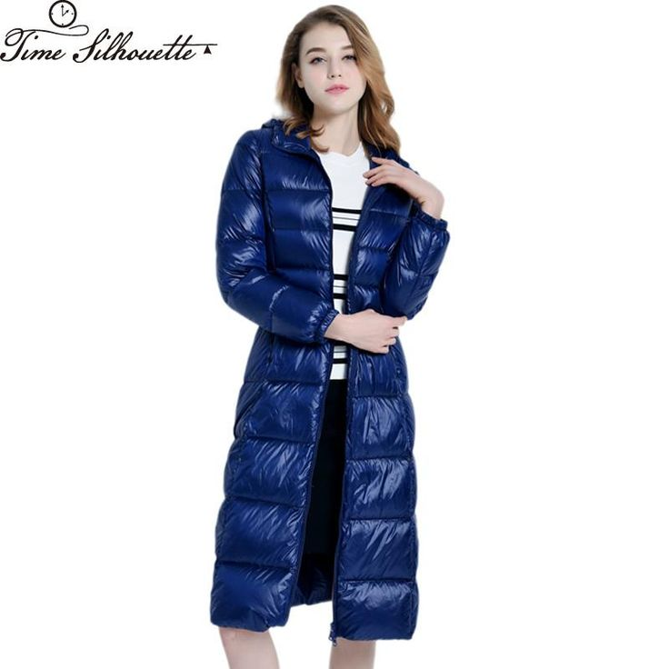 2017 Women Winter Coat 90% White Duck Down Jacket Women Warm Hooded Long Parkas Jackets Outerwear Camperas Mujer Casacas L405