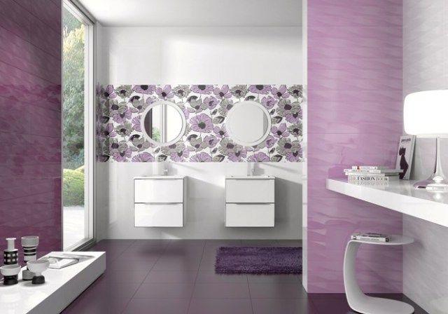 Decorando los baños con morados, malvas, berenjenas Blog T&D