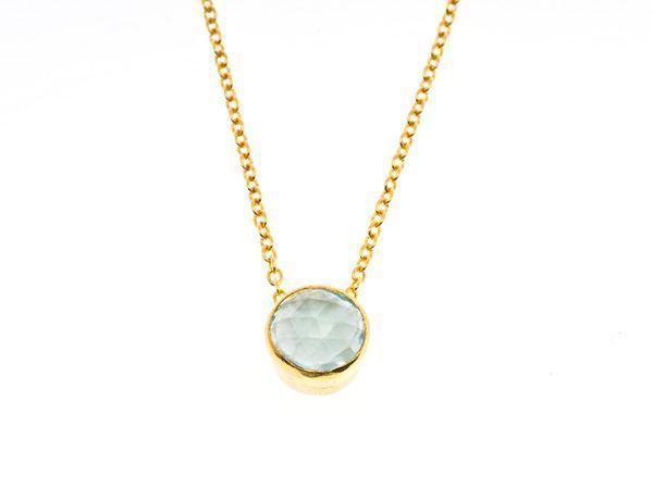 Aqua gold dream necklace - HeidisHoff.no