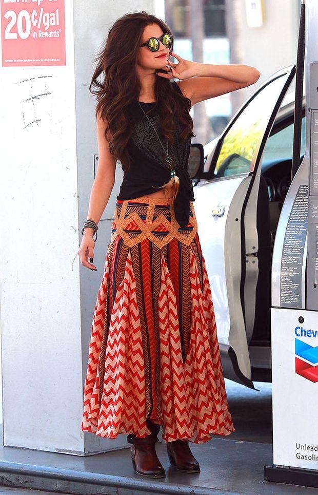 estilo gipsy... polleron y botas con accesorios etnicos