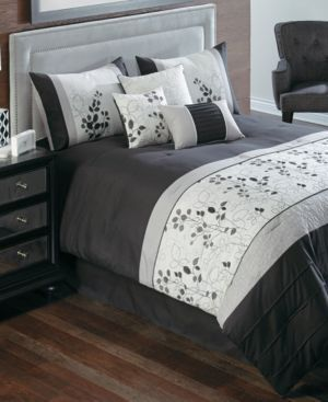 https://yroo.com/af/1130108/ruid/21327 Penelope 7 Piece King Embroidered Comforter Set Bedding | 75% OFF