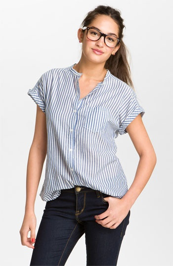 Roll Sleeve Stripe Shirt from BP.