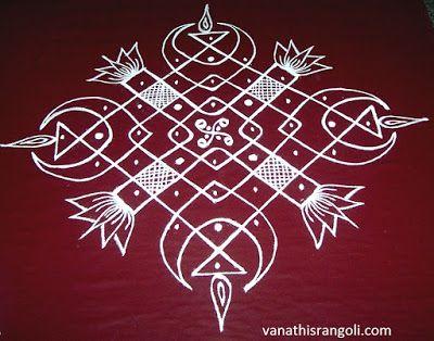 Vanathi's Rangoli: 9*1 Simple and Easy Sikku Kolam Design - 1