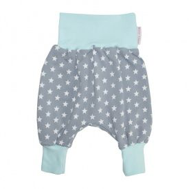 Pantalon bloomer Étoiles - Gris/Menthe