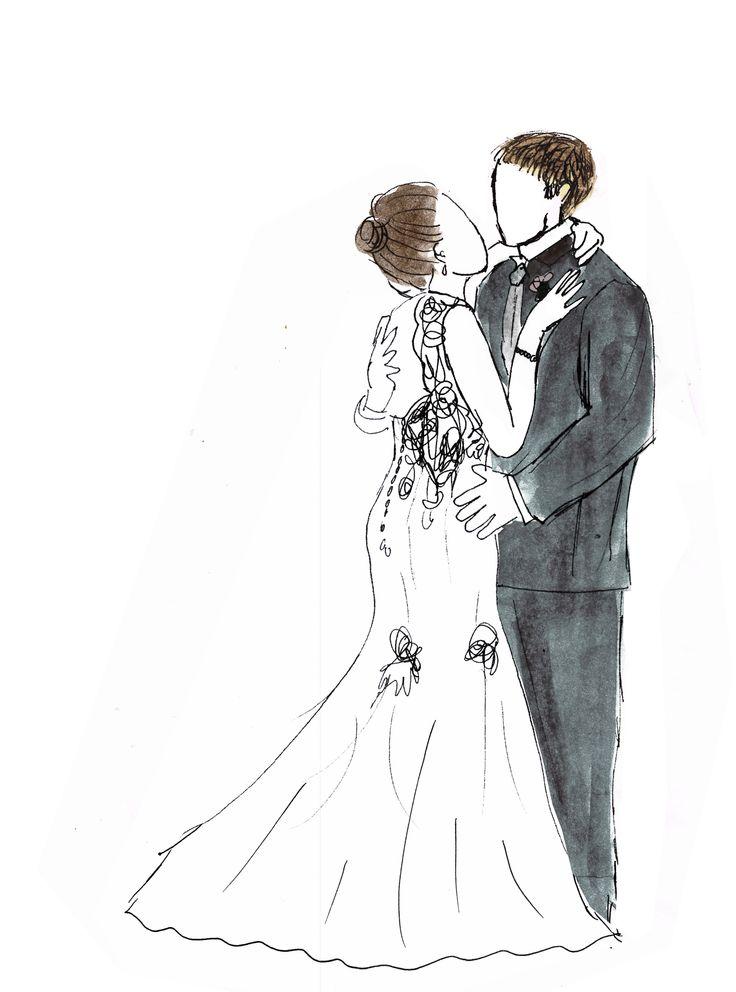 Pin By Leslie Koslucher On Bookshelf Wedding Drawing