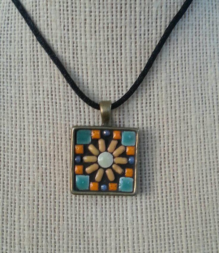 196 best mosaic pendants images on pinterest mosaic mosaic handmade mosaic pendant necklace by nikkisullivanmosaics on etsy aloadofball Choice Image