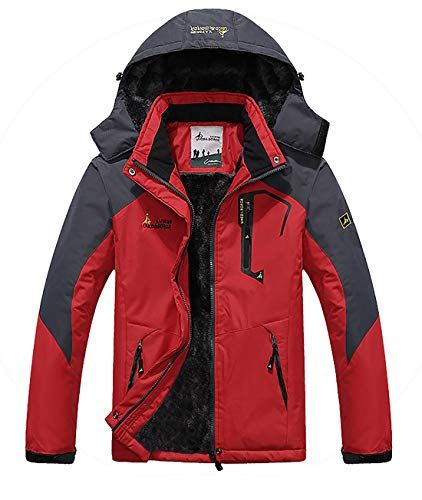 New MAGE MALE Men s Outdoor Mountain Ski Jacket Snow Waterproof Fleece  Windproof Skiing Rain Jackets Hooded Mens Fashion Clothing. cf8cee043