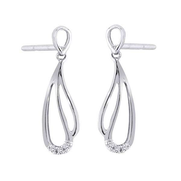 Kolczyki białe złoto z brylantami - Biżuteria srebrna dla każdego tania w sklepie internetowym Silvea