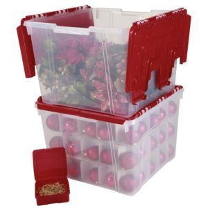 Ornament Storage Boxes With Dividers