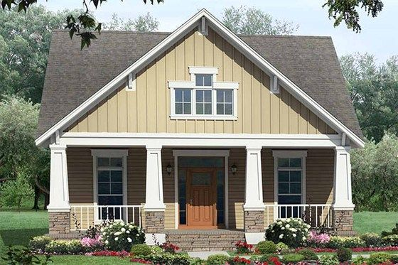 """Houseplan# 21-249 - I really like this one as a small, simple version for our family, it even has a """"flex space"""" off the dining room for school! I would even make the Master closet smaller and then scoot the master door and laundry up to give that flex space a couple more feet."""