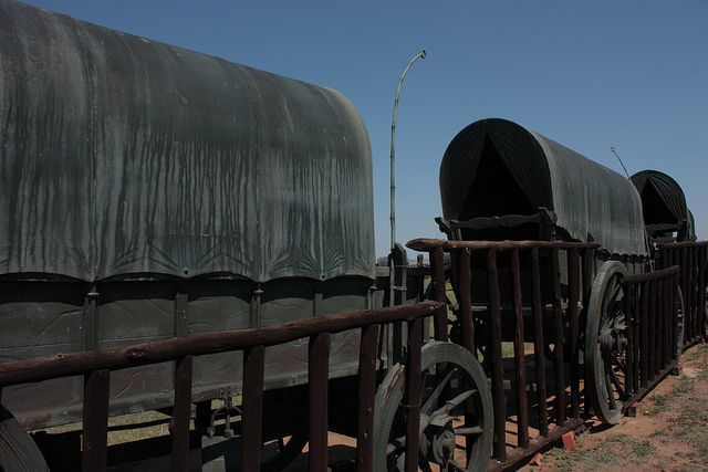 Blood River monument wagons by Kleinz1, via Flickr