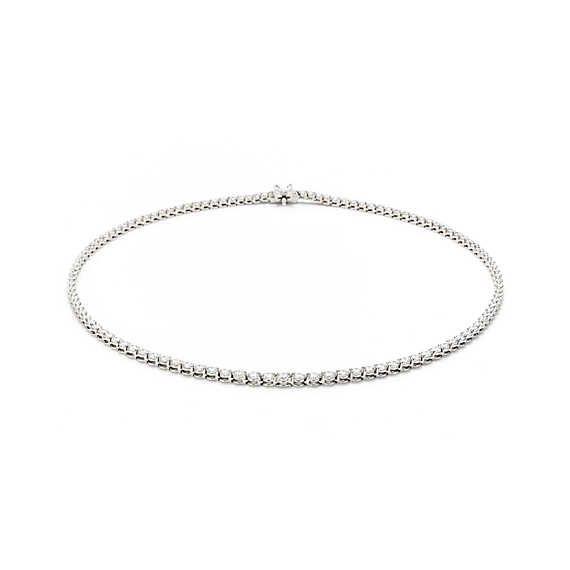 Colar Tiffany Victoria™ em platina com diamantes.