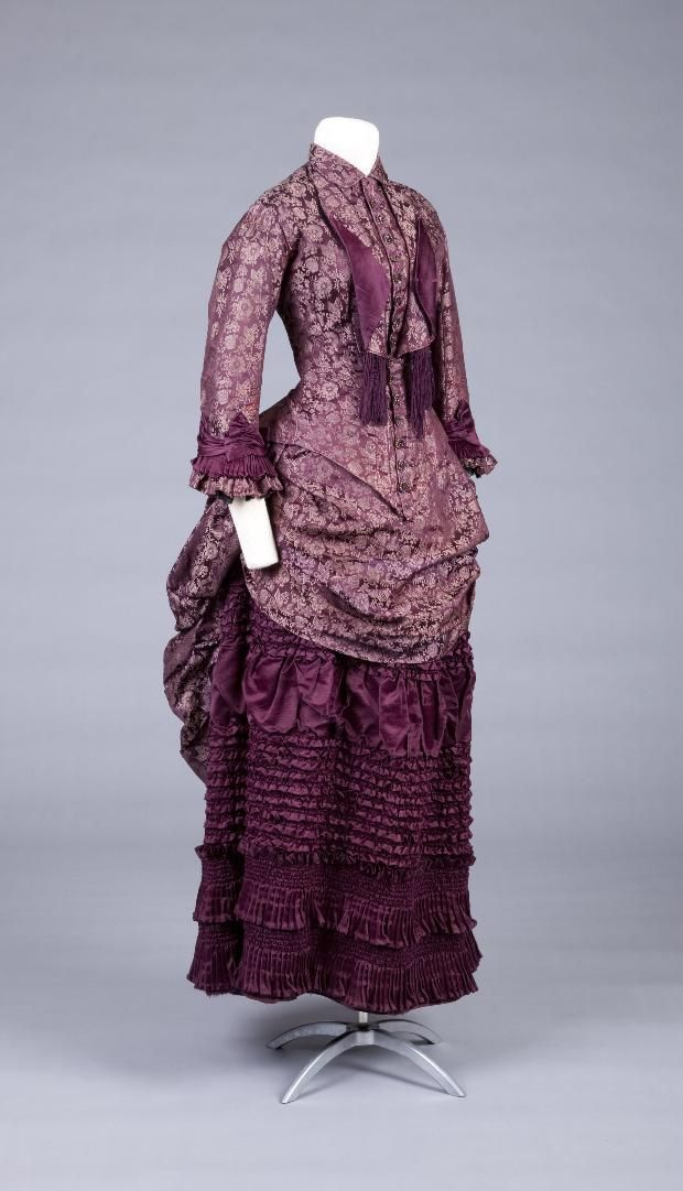 1883 - 18891883 1889 Dresses, 1880S Fashion, Historical Clothing, Dresses 18831889, Victorian Fashion, 1880 S, Dresses 1883 1889, Goldstein Museums, 1800S