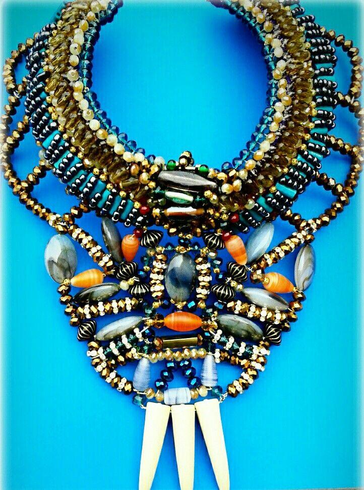Statement collar necklace by Anita Quansah London.