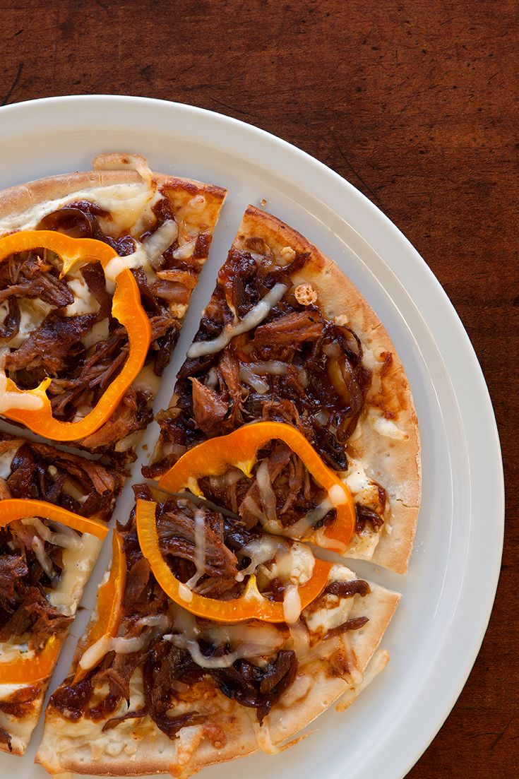 #Epicure Pulled Pork & Blackened Onion Pizza ($1.53/serving)