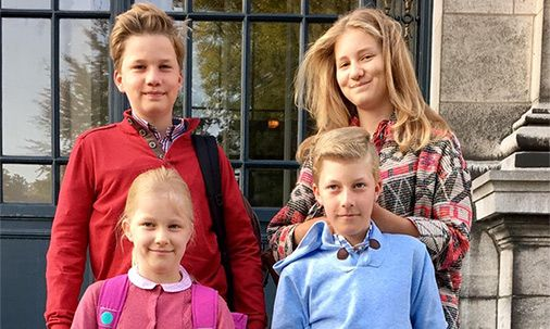 Belgian royal children are starting school again: Gabriel, Elizabeth, Eléonore and Emmanuel/ September 4, 2017/ Latest Photos From The Royals & Hello's Royalty Exclusives