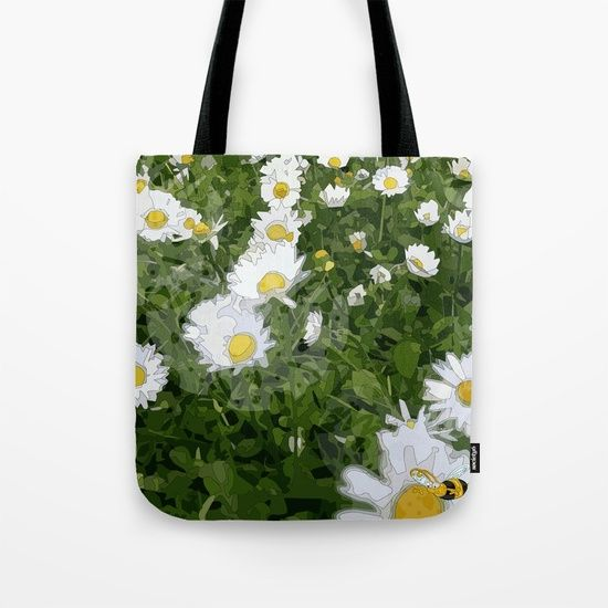 Art Vector Find the bee Vector drawing dedicated to an infinite field of daisies and a cute bee. https://society6.com/product/find-the-bee_print… #vector #art #digital #daisy #ape #bee #margherita