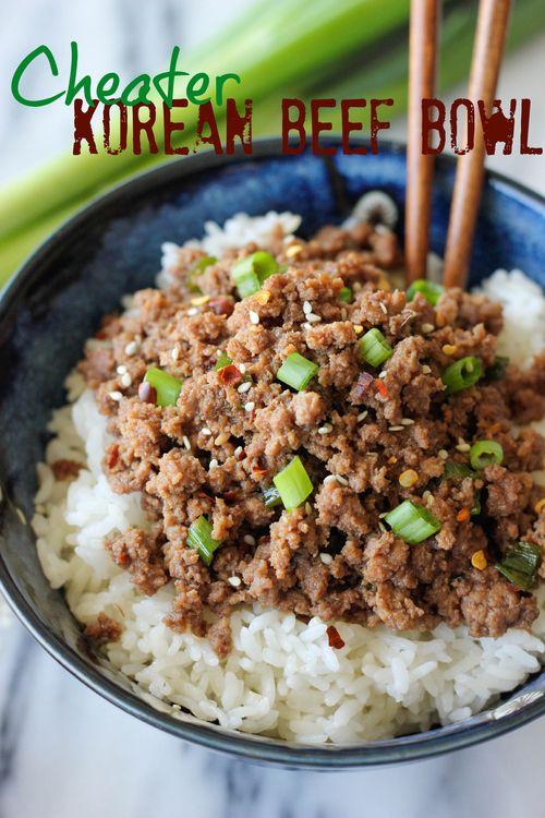 Cheater Korean Beef Bowl