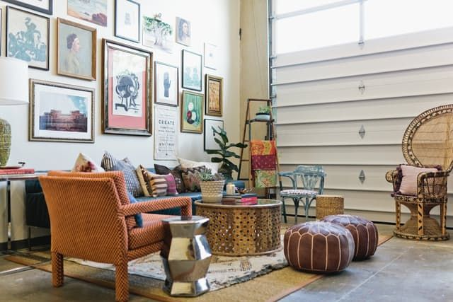 Where Vintage Reigns Supreme: The Eclectic Office of Dallas' Flea Style — Desk Envy | Apartment Therapy